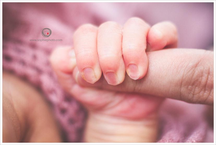 delicate baby fingers