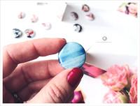 mini button photo magnet