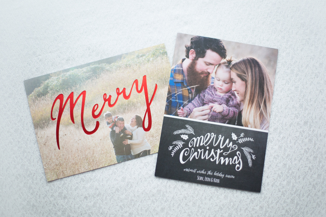 Holiday photo greeting card samples SophiePhoto
