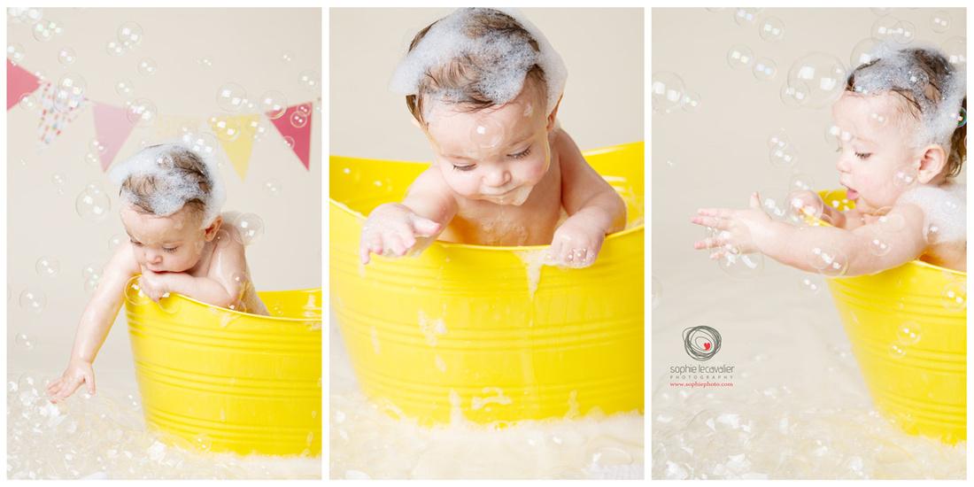 cake smash Victoria bc, bubble bath, 1st birthday photos, birthday fun Victoria BC