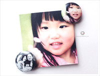 mini button photo magnet